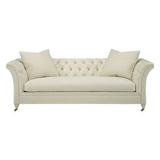 Marquette Tufted Exposed Leg Sofa