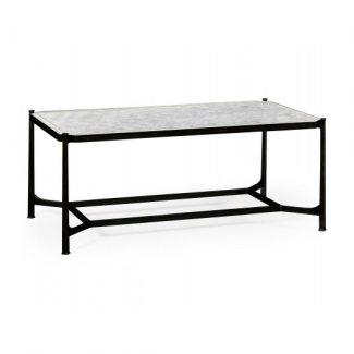 ÉglomisÉ & bronze iron rectangular coffee table 1