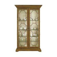 Evan Display Cabinet w/Clear Glass Door Panels