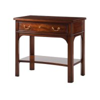 Regency Bow-Front Side Table