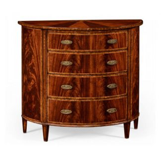 Mahogany demilune chest drawers 1