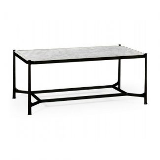 ÉglomisÉ & bronze iron rectangular coffee table 1