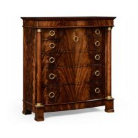 Mahogany biedermeier high chest