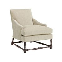 Maud Lounge Chair with Turned Stretchers