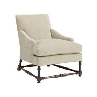 Maud Lounge Chair with Turned Stretchers  1