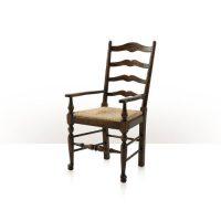 Vistory Oak Ladderback Arm Chair