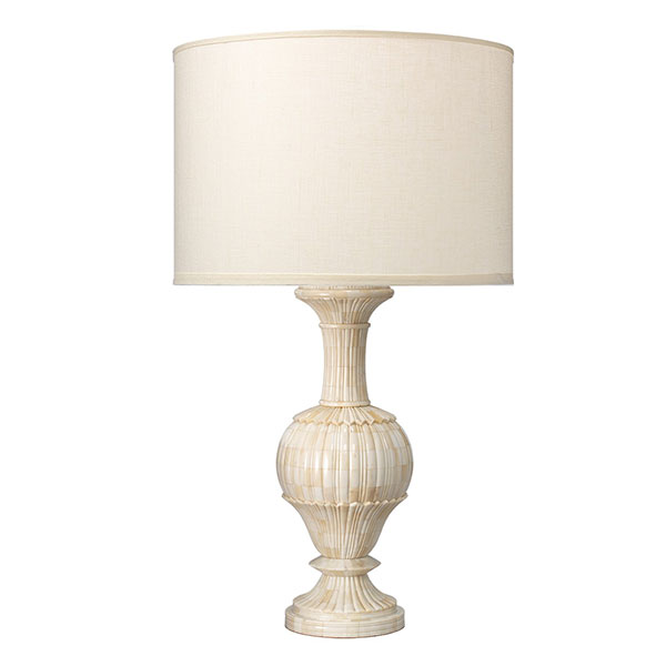 CARVED BONE TABLE LAMP LG 1