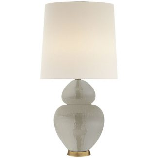 Michelena Table Lamp in Shellish Grey with Linen Shade