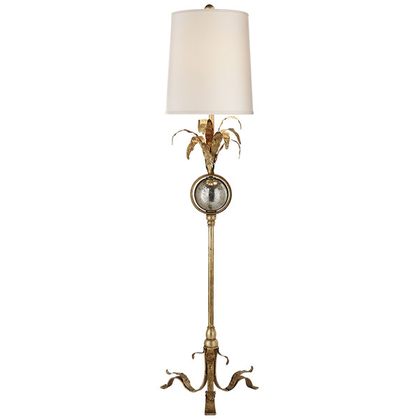 Gramercy Buffet Lamp in Gilded Iron with Natural Paper Shade 1