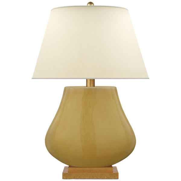 Taiping Table Lamp in Light Honey with Natural Percale Shade 1