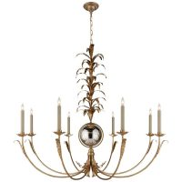 Gramercy Large Chandelier in Gilded Iron