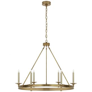 Launceton Ring Chandelier in Antique-Burnished Brass 1