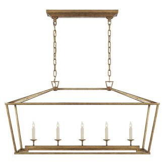Darlana Medium Linear Lantern in Gilded Iron