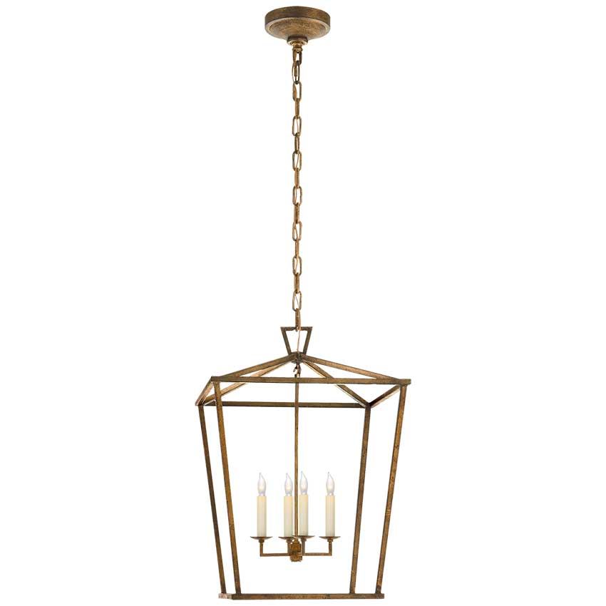 Darlana Medium Lantern in Gilded Iron 1