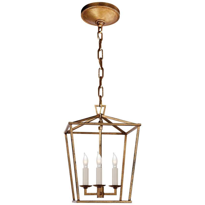 Darlana Mini Lantern in Gilded Iron 1