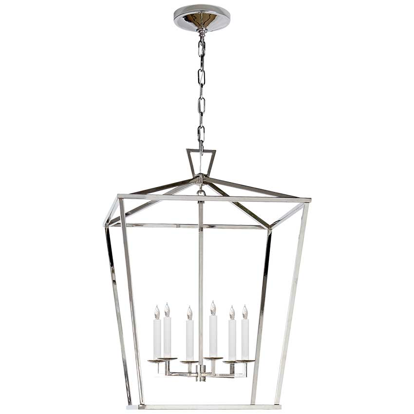 Darlana Large Lantern in Polished Nickel 1