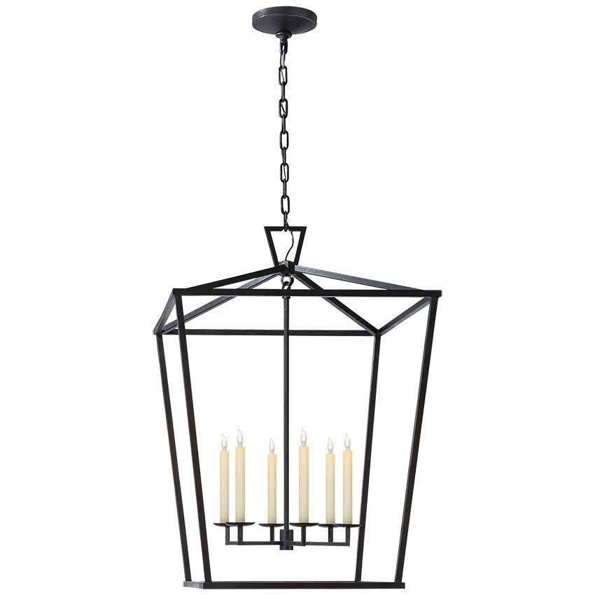 Darlana Extra Large Lantern in Aged Iron 1