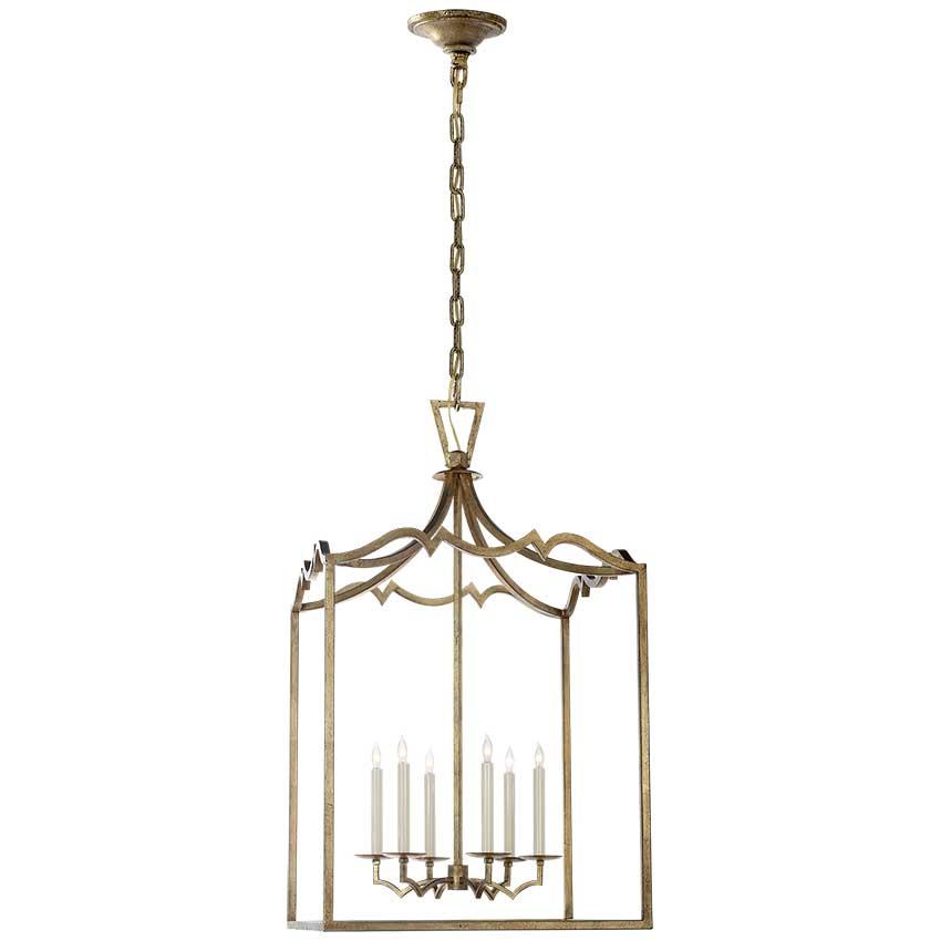 Darlana Large Fancy Lantern in Gilded Iron 1