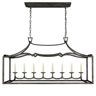 Fancy Darlana Large Linear Pendant in Aged Iron 1
