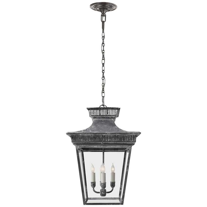 Elsinore Lantern in Weathered Zinc 1