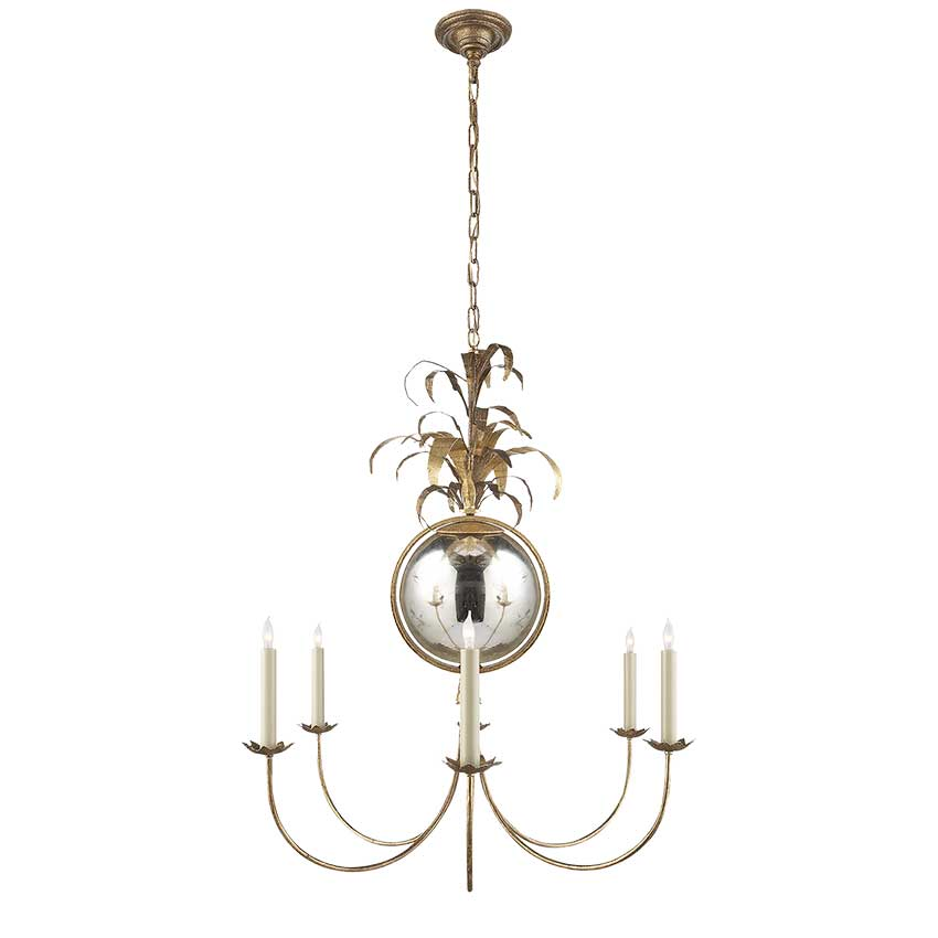 Gramercy Medium Chandelier in Gilded Iron