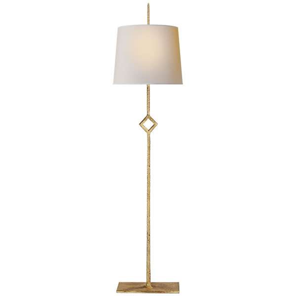 Cranston Buffet Lamp in Gilded Iron with Natural Paper Shade 1