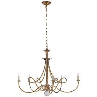 Double Twist Large Chandelier in Hand-Rubbed Antique Brass 1