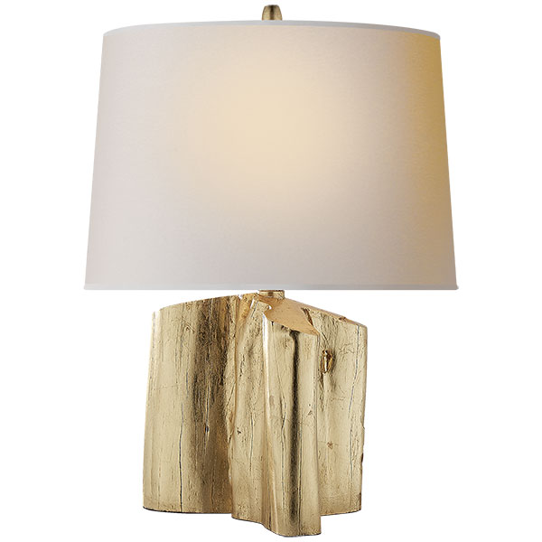 Carmel Table Lamp in Gilded with Natural Paper Shade 1