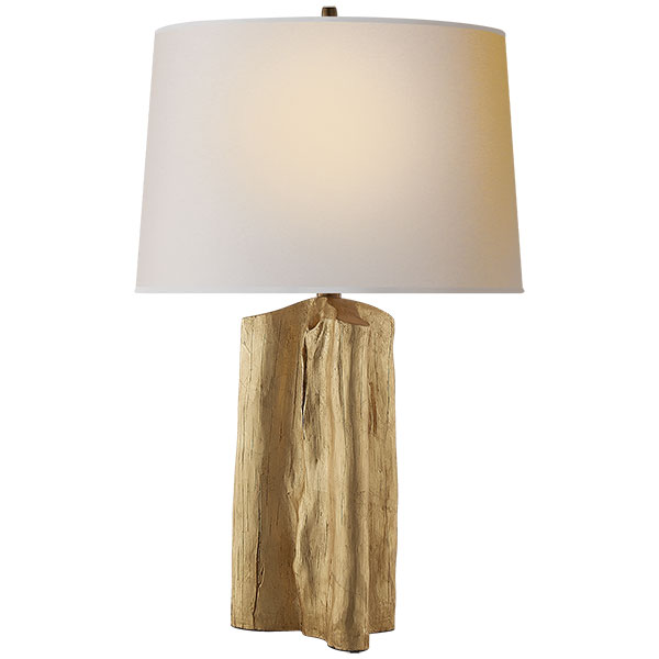 Sierra Buffet Lamp in Gild with Natural Paper Shade 1