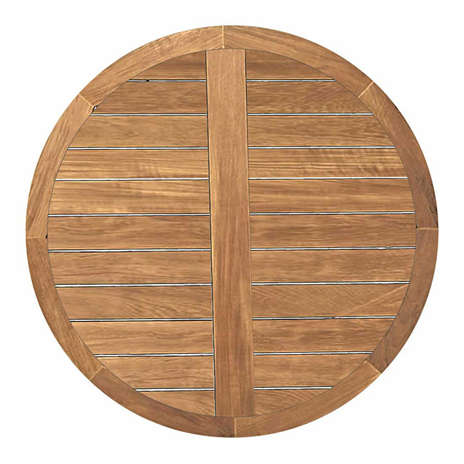Club Teak 48_ Round Table Top