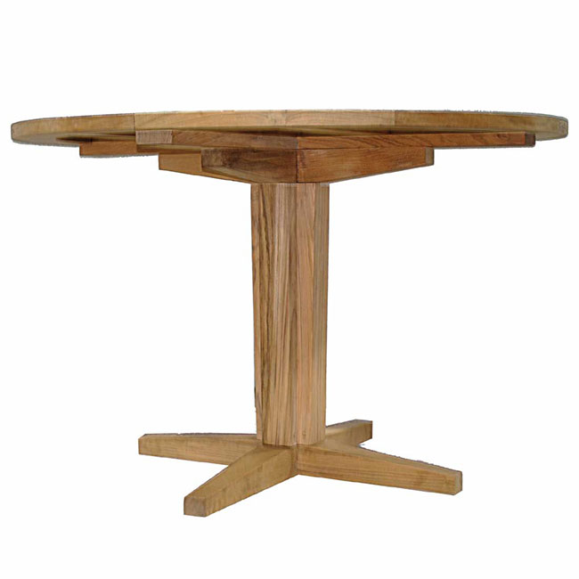 Club Teak Dining Pedestal Base