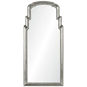 Distressed Silver Leef Queen Anne Mirror