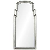 Distressed Silver Leef Queen Anne Mirror