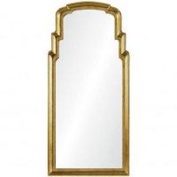 Burnished Gold Leef Queen Anne Mirror