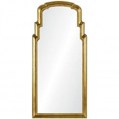 Burnished Gold Leef Queen Anne Mirror